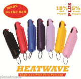 HEATWAVE Personal Molded Pepper Spray .5oz with clip PURPLE New-HW05M-PURPLE