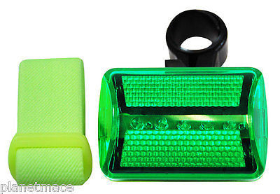 Bicycle and Jogger 7 Function LED GREEN Safety Light Flasher Cyclists New-LSL-GN