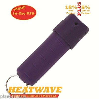HEATWAVE Personal Molded Pepper Spray .5oz Spin Top PURPLE New-HW05ST-PRPL