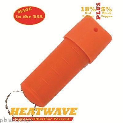 HEATWAVE Personal Molded Pepper Spray .5oz Spin Top ORANGE New-HW05ST-ORNG