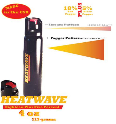 HEATWAVE 4 oz. TWIST-LOCK FOGGER Pepper Spray