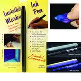 Invisible Ink Pen and UV Light