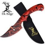 "Elk Ridge 8"" Orange Camo Skinner"