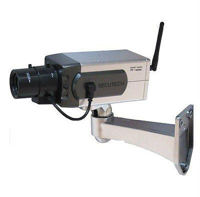 Imitaion Security Camera w/Zoom Flashing LED NEW-ICDC1400