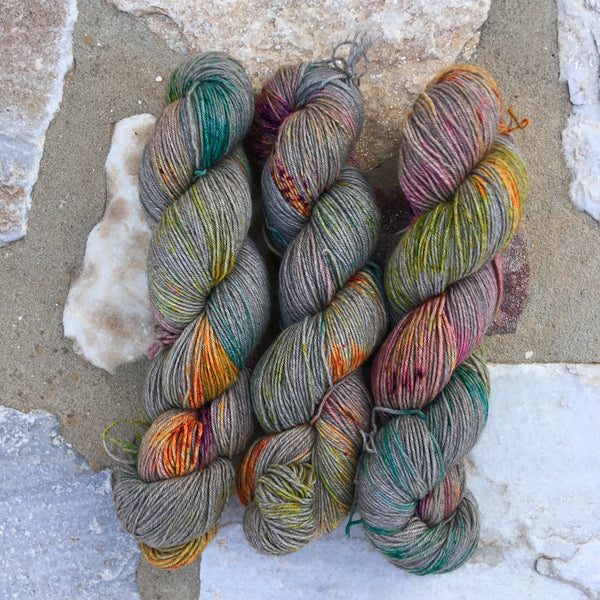 'Instant Crush' - Yama: 70% Superwash Merino 20% Yak 10% Nylon - Sock