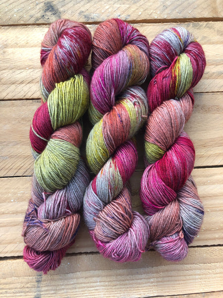 """ Cosmopolitan"" - Yama: 70% Superwash Merino 20% Yak 10% Nylon - Sock"