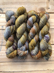 """Remus Lupin"" - Yama: 70% Superwash Merino 20% Yak 10% Nylon - Sock"