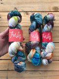 Chaos is s ladder - Titan: 100% Superwash BFL High Twist - Fingering