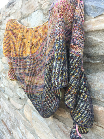 """A la Lise"" shawl- KITS - Hera: 100% Superwash Merino High Twist - Fingering"
