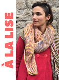 """A la Lise"" shawl- KITS - Titan: 100% Superwash BFL High Twist - Fingering"