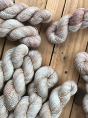 F*ckaccino Latte - Eros - 95% Superwash Merino 5% Silver Stellina  - Single Fingering