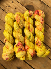 Dishonest Ochre - Zeus: 100% superwash merino Single fingering