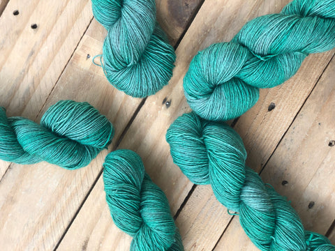 """Suspicious Minds"" - Yama: 70% Superwash Merino 20% Yak 10% Nylon - Sock"