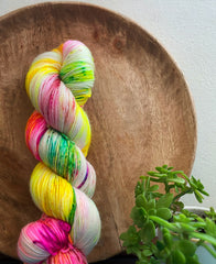 """Innocence"" - NYX: 80% Superwash Merino 10% Nylon 10% Cashmere"