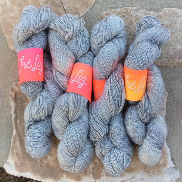 Silver - Psyche - 50% Superwash Merino 50% Silk - Single Fingering