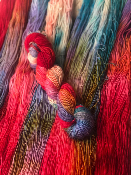 And now, we play Cluedo - Titan: 100% Superwash BFL High Twist - Fingering