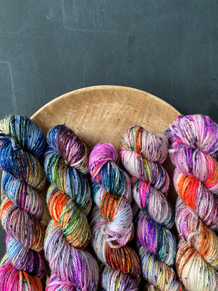 Confessions - Gaia: 85% Superwash Merino 15% Donegal Nep - Aran