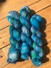 Visshuddhi - Eros - 95% Superwash Merino 5% Silver Stellina  - Single Fingering