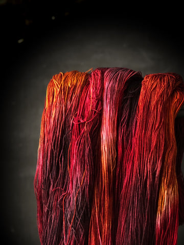 Crimson - Ares: 75% Superwash Merino 25% Nylon - Sock