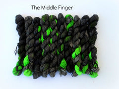 The Middle Finger - 75% Superwash Merino 25% Nylon - Mini Sock