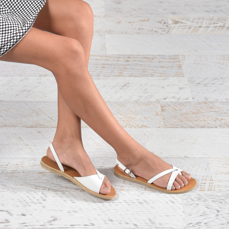 Slow fashion Artisan leather sandals - Alasia Lifestyle, sustainable fashion, made in Greece
