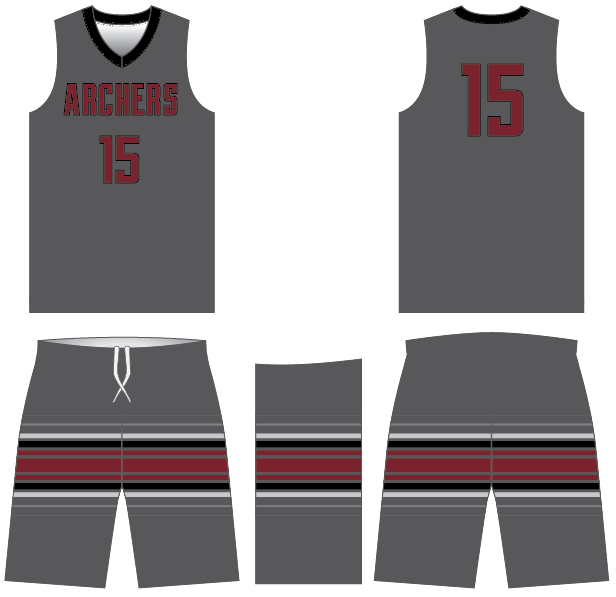 D40 FUSION ARCHERS Basketball Game Uniforms