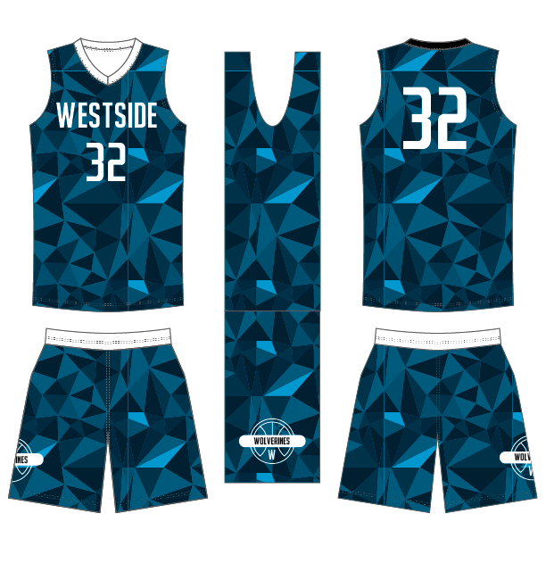 D40 Fusion Prism Basketball Game Uniform
