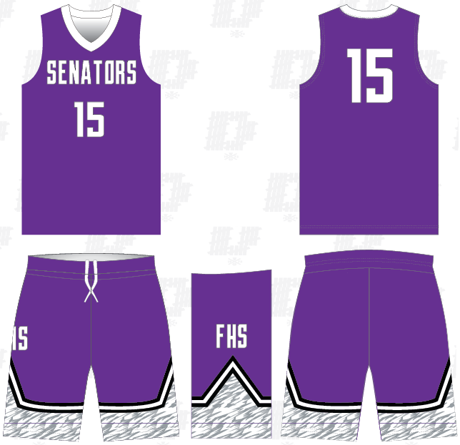 D40 FUSION SENATORS BASKETBALL GAME UNIFORM
