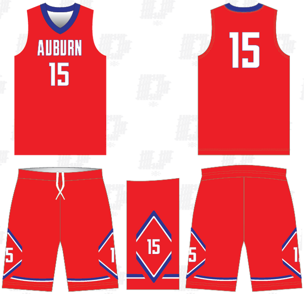 D40 FUSION AUBURN BASKETBALL GAME UNIFORMS