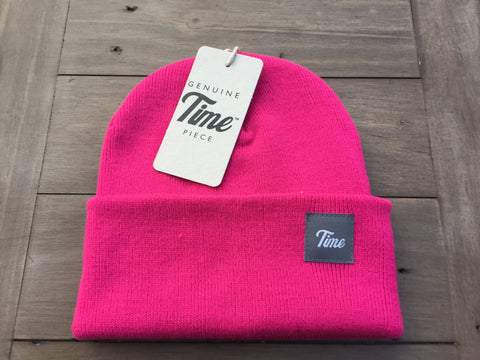Time Cuffed Beanie Dude Pink