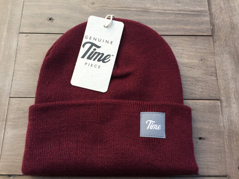 Time Cuffed Beanie Burgundy