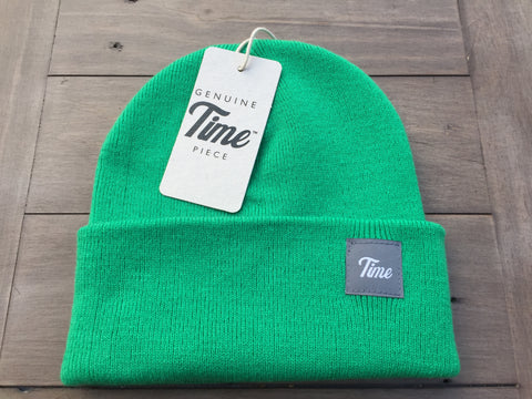 Time Cuffed Beanie Green