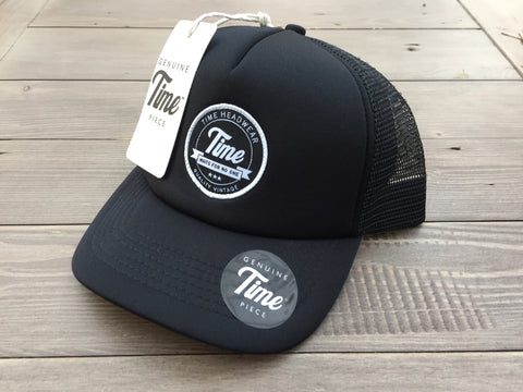 Time Waits for No-one Trucker Black