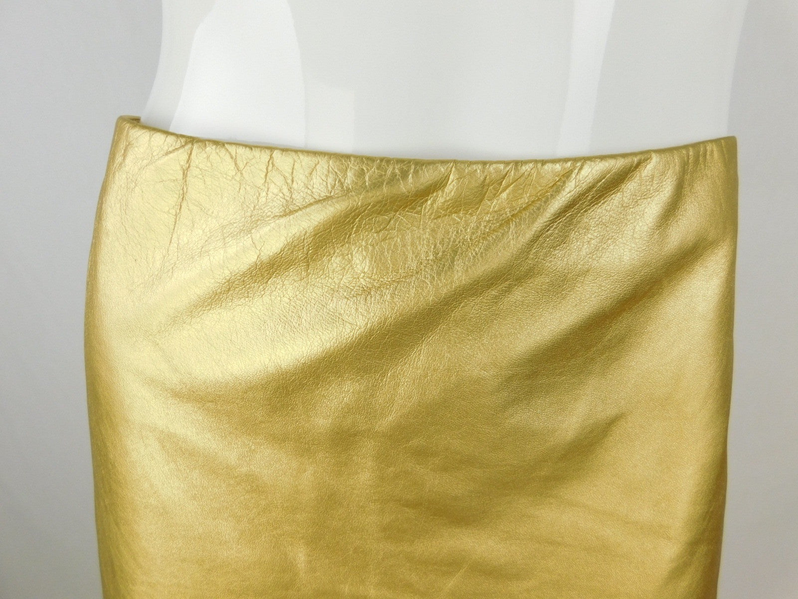 "Ralph Lauren ""Kasey"" Lambskin Leather Mini Skirt, Size 6-NWT"