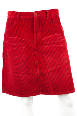 Marc Jacobs Corduroy Cherry Red Skirt, Size 8