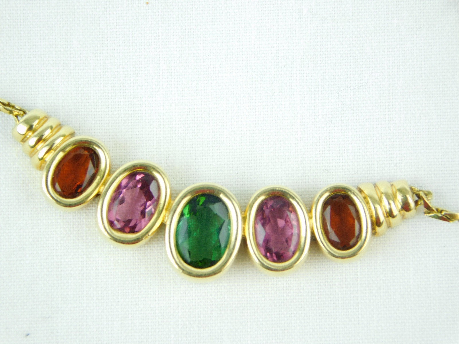 18K Yellow Gold Brazilian Gemstone Necklace
