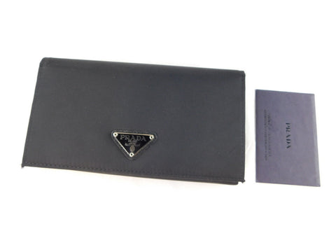 Prada Nylon Black Bi-Fold Wallet
