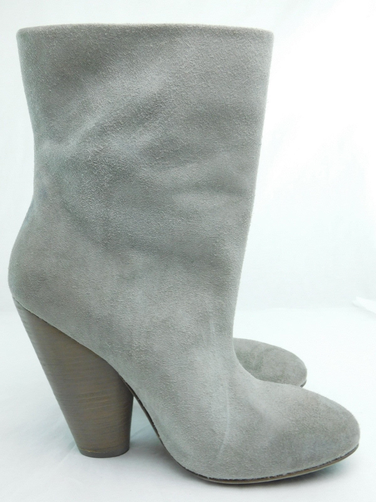 Marséll Grey Suede Ey Pull-On Round Toe Boots, Size 39/US 8.5