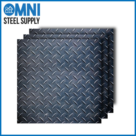 Carbon Steel Diamond Plate 1/4""