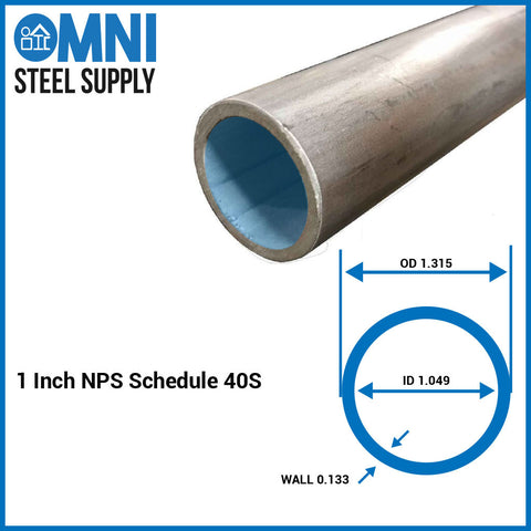 "Steel Pipe 1"" ( 1.315 OD x 1.049 ID)"