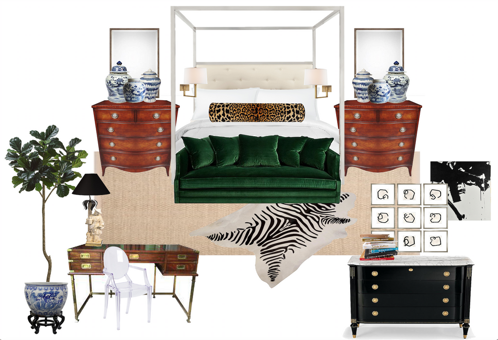 One Room Challenge // Week Two :: Transitional Master Bedroom