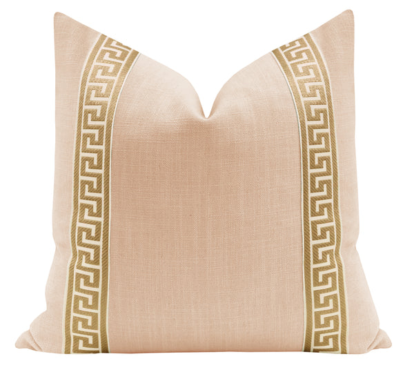 Signature Linen // Cameo + Greek Key Trim