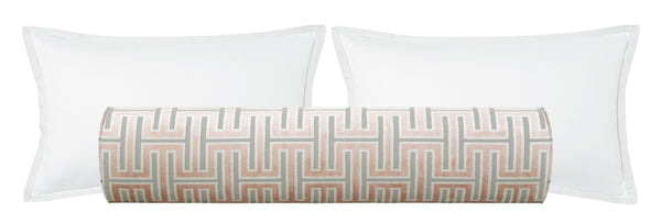The Bolster :: Grecian Cut Velvet // Blush