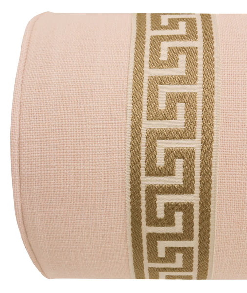 The Bolster :: Signature Linen // Cameo + Greek Key Trim // Natural BACKORDER