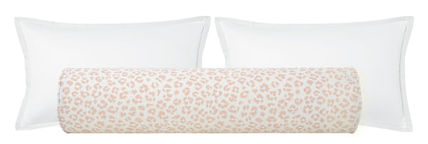 The Bolster :: Cougar Linen Print // Blush BACKORDER