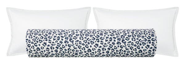 The Bolster :: Cougar Linen Print // Navy Blue