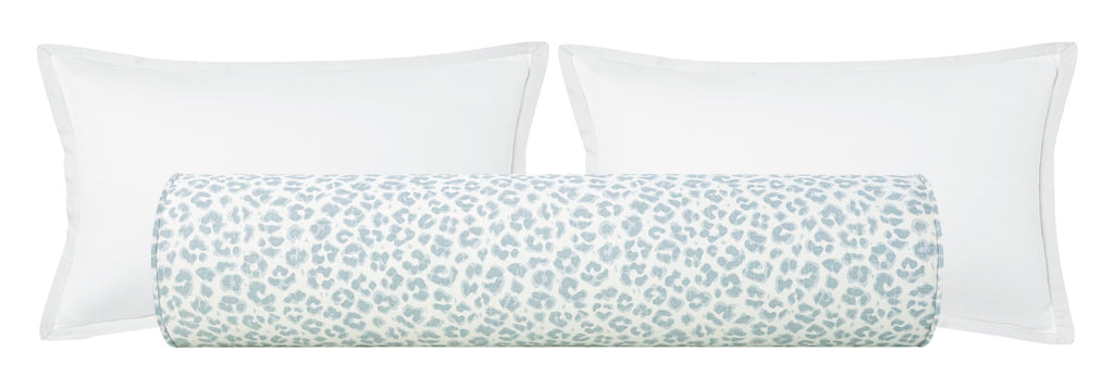 The Bolster :: Cougar Linen Print // Spa Blue