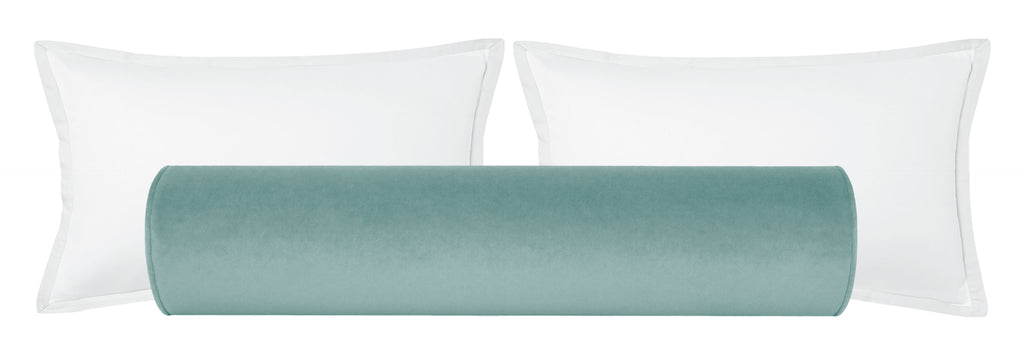 The Bolster :: Society Velvet // Sky Blue