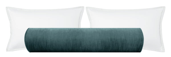 The Bolster :: Strie Velvet // Aegean