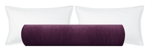 The Bolster :: Strie Velvet // Aubergine BACKORDER